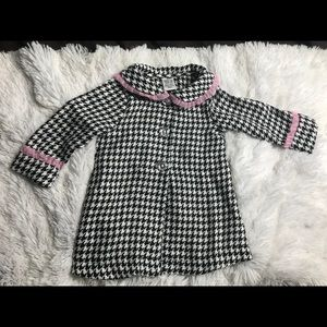 Other - Houndstooth decorative button long sleeve coat 12M